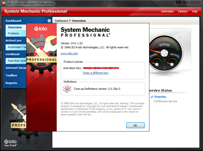 System Mechanic 18 keeps your PC running faster, cleaner and error-free. Its powerful arsenal of 50+ award-winning precision tools fixes stubborn errors, cleans out clutter, optimizes internet and download speeds, ensures personal security and maintains maximum computer performance automatically.