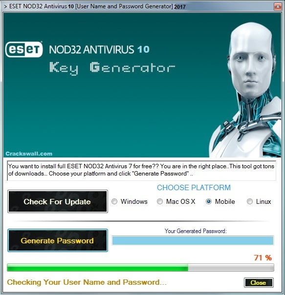 eset smart security 7 username and password 2018